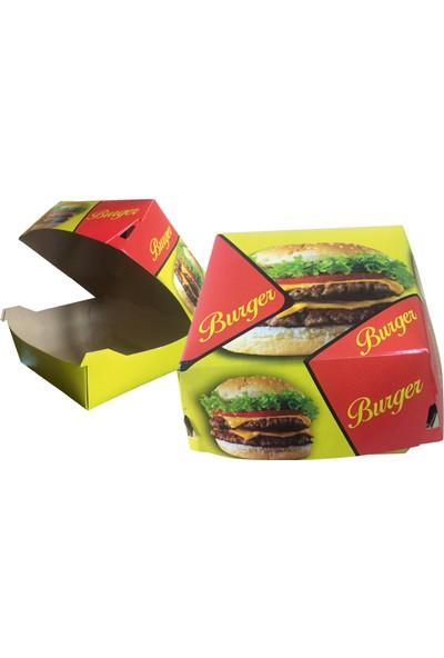 Yaşatan Kutu Büyük Boy Hamburger Kutusu Krome Karton ( 100'lü ) -122