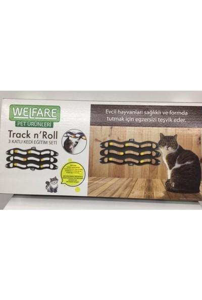 Welfare 3 Kanallı Vantuzlu Kedi Oyun Tüneli 24 x 54 cm