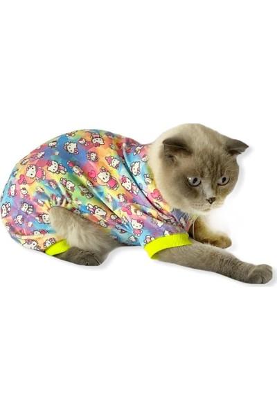 Kemique Kitty Penye Tulum Kedi Tulumu Kedi Pijaması L