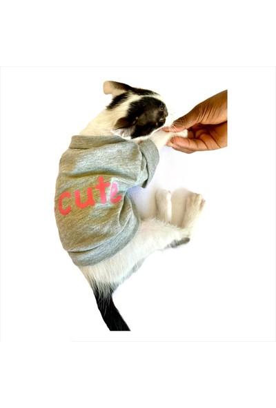Kemique #cute Pembe Kedi Tişört Kedi Kıyafeti Kedi Modası XS