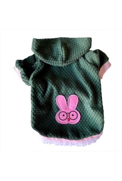 Kemique Bunny Pembe Dantelli Kapşonlu Sweat Elbise By Kemique Köpek Kazağı XXXL