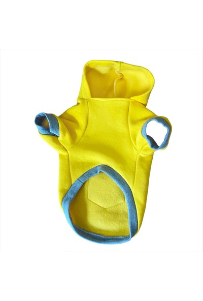 Kemique Sarı Sevimli Fare Kapşonlu Sweat By Kemique Köpek Kazağı L