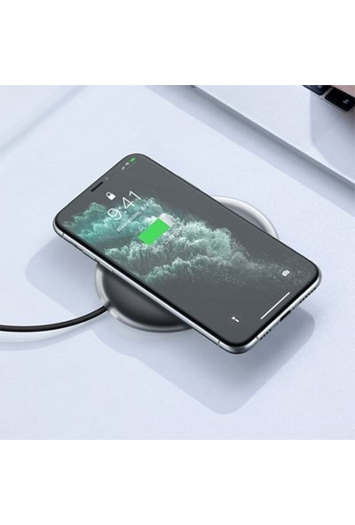 Baseus Jelly Qi Wireless Kablosuz 15W Hızlı Şarj Apple iPhone 11,11Pro XR 8-7 WXGD-01