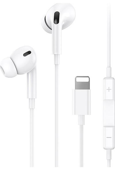 Usams Apple iPhone 11-XS XR 7-8 Kulaklık Lightning Mikrofonlu Kulaklık US-SJ453