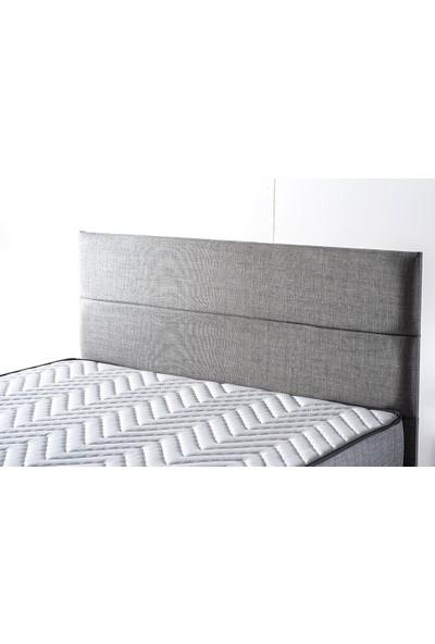 Niron Yatak Silver Çift Kişilik Yatak Başlığı - 150 cm Gri Keten Kumaş Başlık