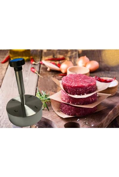 Alfa Paslanmaz Çelik Hamburger Köfte Presi, (10 cm ) Lik Köfte Kalıbı,köfte Şekillendirme Presleri