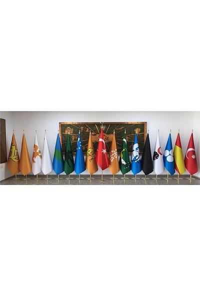 BAYRAKAL Eski Türk Devletleri Makam Bayrakları 17 Adet