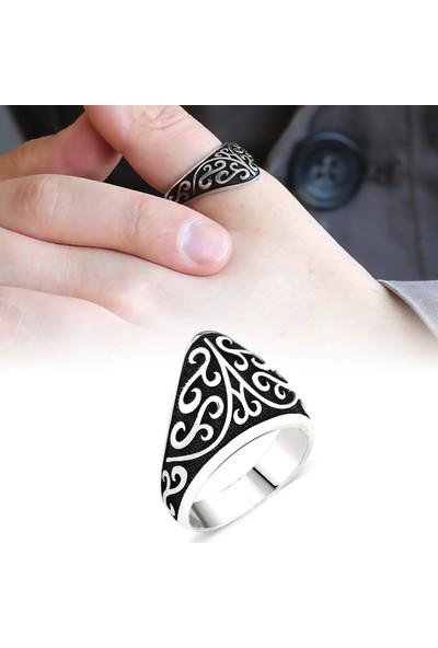 Alis Silver Özel Tasarım 925 Ayar Gümüş Okçu (Zihgir) Yüzüğü