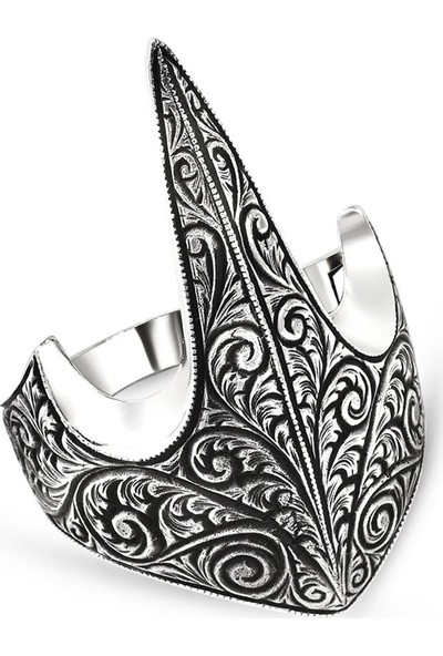 Alis Silver Özel Tasarım Eskitme Renk 925 Ayar Gümüş Okçu (Zihgir) Yüzüğü