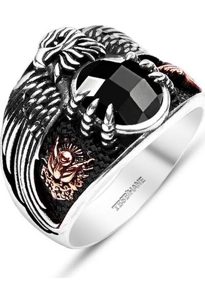 Kovan Siyah Zirkon Taşlı 925 Ayar Gümüş Son Imparator Yüzüğü