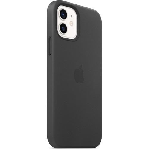 Apple iPhone 12 - 12 Pro Deri Kılıf MagSafe Siyah - MHKG3ZM/A