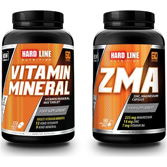 Hardline Nutrition Vitamin Mineral - Zma Seti