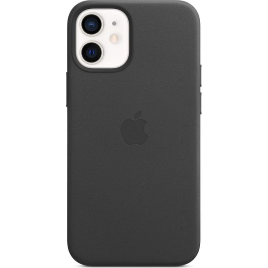 Apple iPhone 12 Mini Deri Kılıf MagSafe Siyah - MHKA3ZM/A