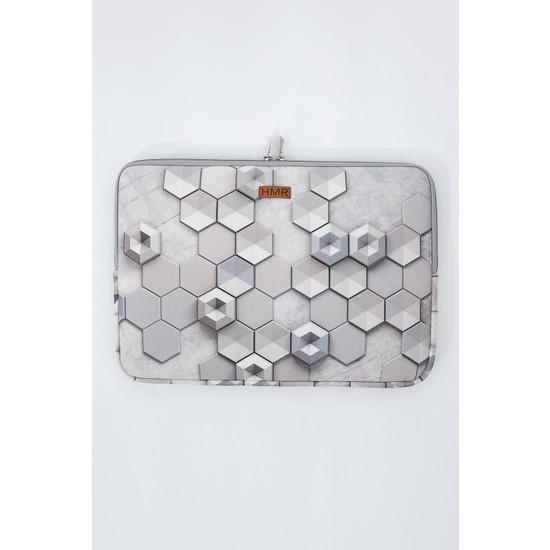 """Hamur Easy Case 13"""" Laptop Çantası Notebook Kılıfı Hexagon New"""