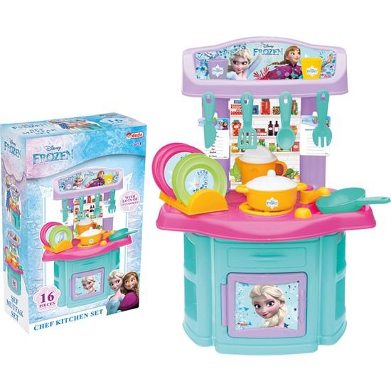 Dede Frozen Karlar Ülkesi Şef Mutfak - Elsa Anna Oyuncak Mutfak Seti