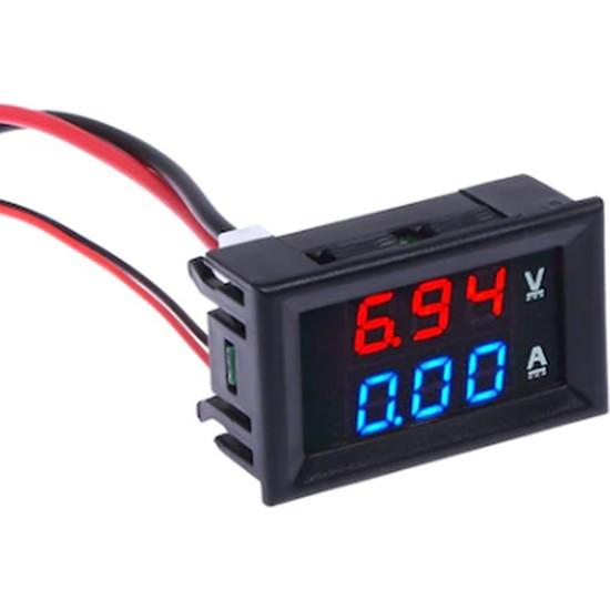 Intec Dijital Voltmetre Ampermetre Dc 0-100V 10A