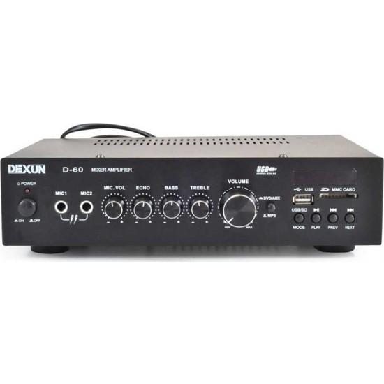 Dexun D-60 60W 100V Usb+Sd Hat Trafolu Anfi