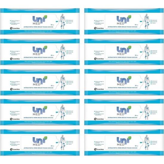 Unimed Antibakteriyel Perine Bölgesi Yıkama Havlusu 50'li 10 Adet