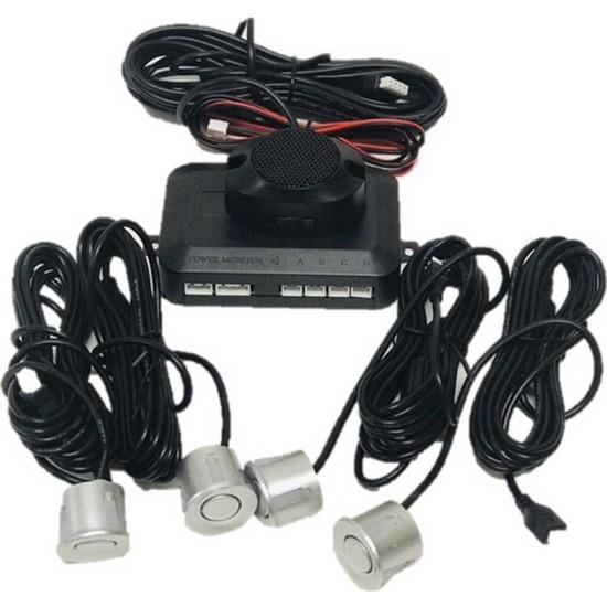 Carub Park Sensörü Sesli 22 mm Gri 4 Sensör