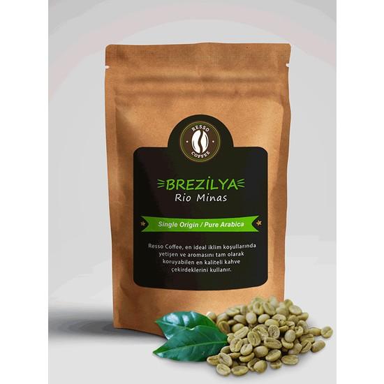 Resso Coffee Brezilya / Rio Minas %100 Arabica Premium Yeşil / Çiğ Kahve Çekirdeği 250 gr