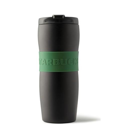 Starbucks® Klasik Seri Termos - Mat Yeşil - Siyah Renkli 355 ml