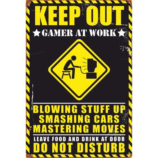 Atc Gamer Oyuncu Retro Vintage Ahşap Poster