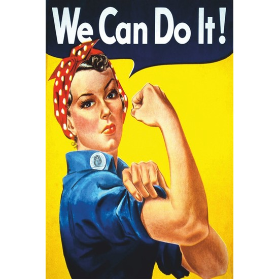 Atc We Can Do It Retro Vintage Ahşap Poster