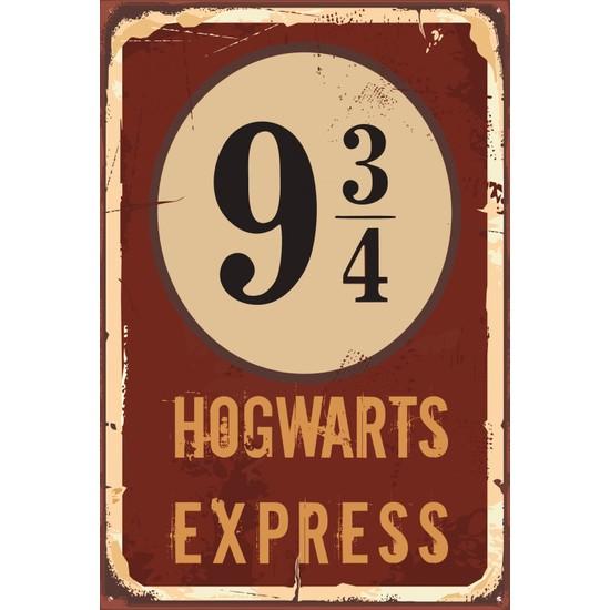 Atc Harry Potter Hogwart Express Dokuz Çeyrek Retro Vintage Ahşap Poster