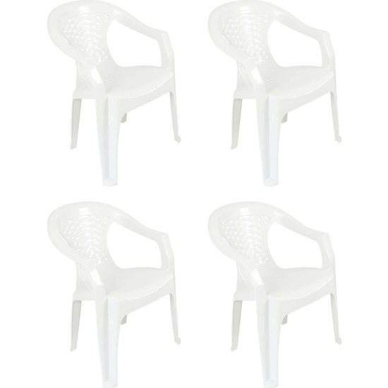 Romanoset Plastik Romanoset Tusem Plastik Kollu Sandalye 4 Lü Set
