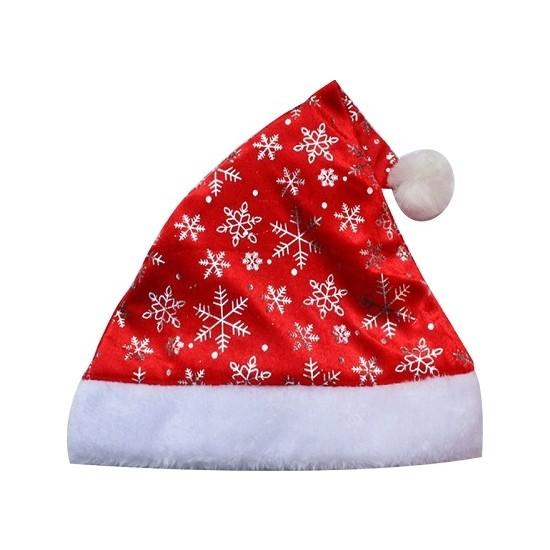 Cakes Party Yılbaşı Noel Baba Şapkası Kar Taneli