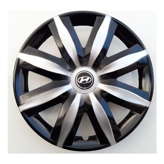 14'' İnç Hyundai Jant Kapağı 4 Adet Çelik Jant Görünümlü Renkli Kırılmaz Esnek