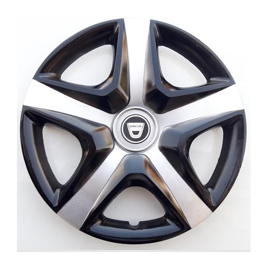 15'' İnç Dacia Jant Kapağı 4 Adet Çelik Jant Görünümlü Renkli Kırılmaz Esnek