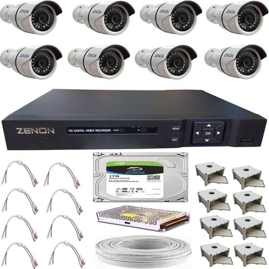 Zenon Güvenlik Kamera Seti 8 Kameralı