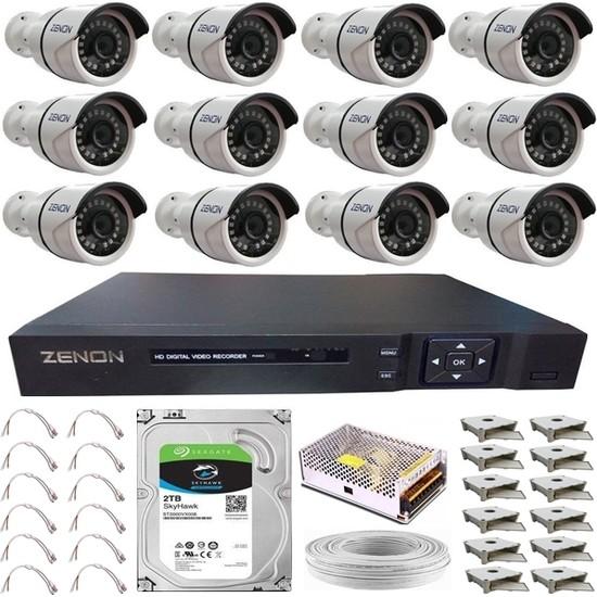 Zenon Güvenlik Kamera Seti 12 Kameralı