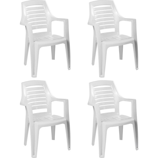 Romanoset Plastik Romanoset Milenyum Kollu Plastik Sandalye 4 Lü Set