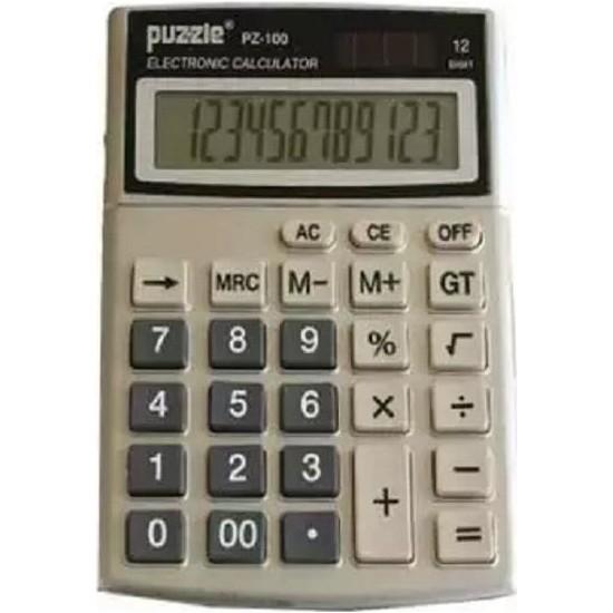 Puzzle Elektronik Hesap Makinesi PZ-100S