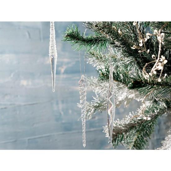 English Home Winter Time Cam 3'lü Askılı Aksesuar 14 cm Silver