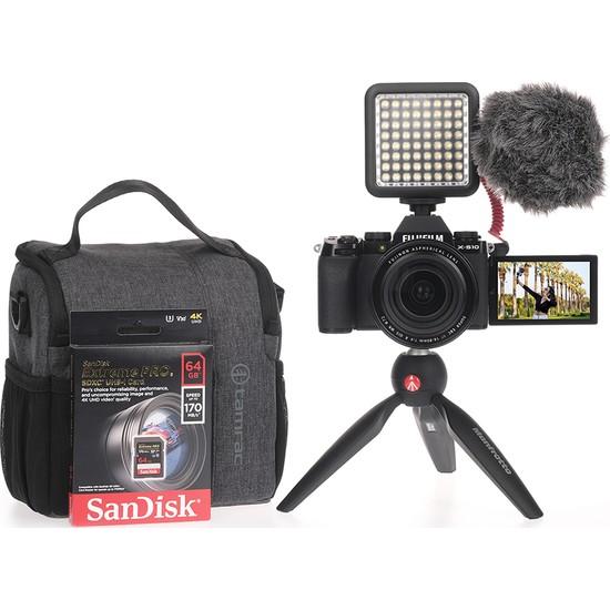 Fujifilm X-S10 Siyah + Xf 16-80MM Vlogger Hazır Kit