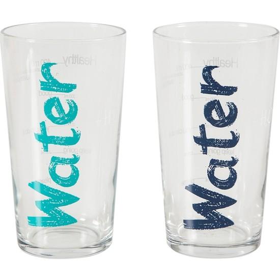 Mudo Concept Water Bardak 570 Ml 2'Li Set -Mavi&Turkuaz