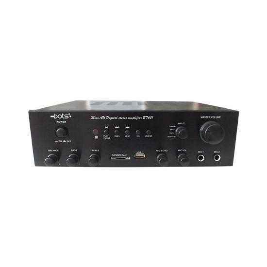 Bots BT-601-S Stereo Anfi Güç 2X40 Watt , Bluetoothlu Usb, Sd Card