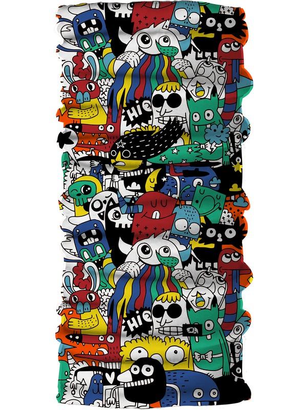 Pirate & Parrot Dobby Unisex Çok Fonksiyonlu Yüz Maskesi Bandana Bileklik Toz- Güneş ve Rüzgar Koruyucu Tüp Boyunluk