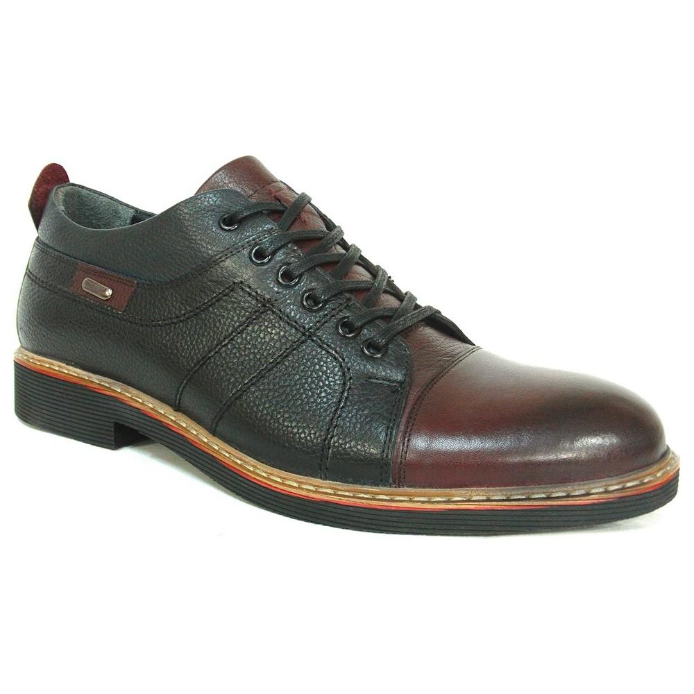 Slope 117890 Siyah Bordo Bağcıklı Erkek Ayakkabı