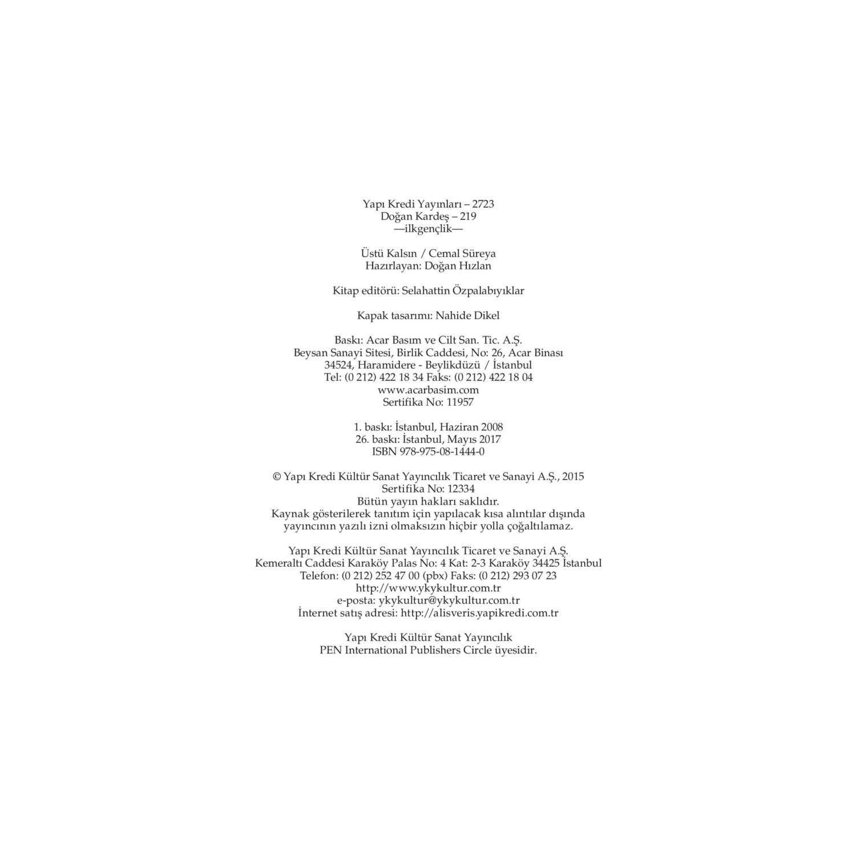 üstü Kalsın Seçme şiirler Cemal Yorumları