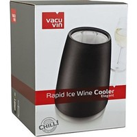 Vacu Vin Rapid Ice Elegant Wine Cooler Black / Şarap Şişe Soğutucu