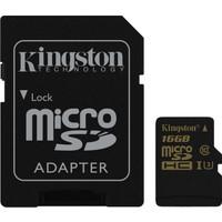 Kingston 16GB Microsdhc Class U3 UHS-I 90R/45W SDCG/16GB Hafıza Kartı