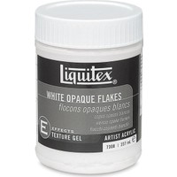 Liquitex Effects Gel Texture White Opaque Flakes 237Ml