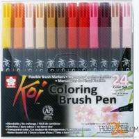 Sakura 24'Lü Koi Colour Fırça Uçlu Kalem Seti
