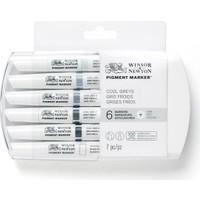 Winsor & Newton Pigment Marker 6'Lı Cool Grey