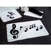 Alessia Home Melodi Beyaz 3'lü Banyo Takımı Seti