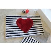 Alessia Home Heart Lıne 3'lü Banyo Takımı Seti